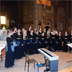 2015 - The Academic Female Choir of the Jagiellonian University during the performance in the Sanctuary of Our Lady of Grace in Pordenone , directed by Janusz Wierzgacz .